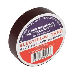 Flame Retardant PVC Insulation Tape 19x33m Brown