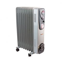 CED AirMaster CR2T 2kW Oil Filled Radiator with Thermostat & Timer