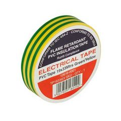 Flame Retardant PVC Insulation Tape 19x33m Green/Yellow