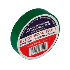 Flame Retardant PVC Insulation Tape 19x33m Green