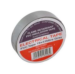 Flame Retardant PVC Insulation Tape 19x33m Grey