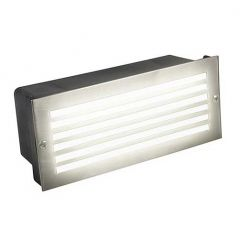 CED LEDBRICK1WHI 4.8W Daylight LED Bricklight with Black, White & Steel Grilled Bezels
