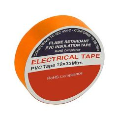 Flame Retardant PVC Insulation Tape 19x33m Orange