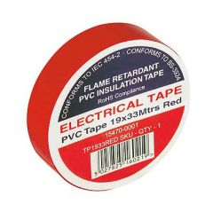 Flame Retardant PVC Insulation Tape 19x33m Red