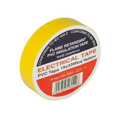 Flame Retardant PVC Insulation Tape 19x33m Yellow
