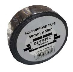 Black All Purpose Duct Tape 50mm x 50 meter