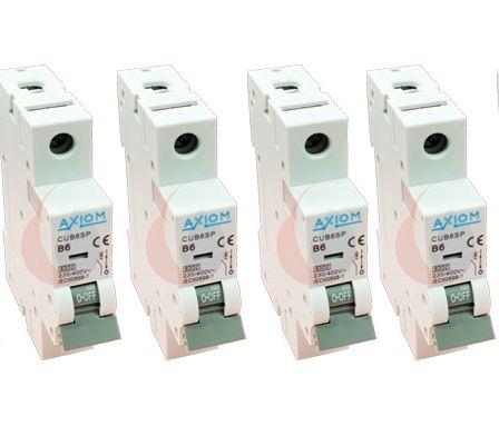 CED Axiom MCU10SL 6 Ways Split RCD & Main Switch Consumer Unit c/w 6 x MCB