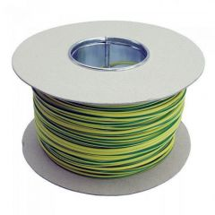 PVC Sleeving 2mm Green and Yellow 100m