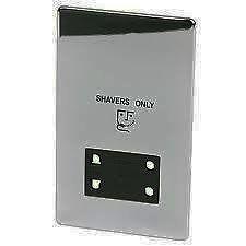 Crabtree Platinum 7411-BKN Dual Shaver Socket Black Nickel