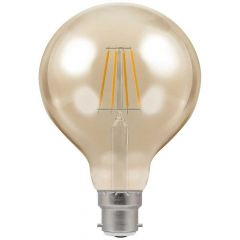 Crompton 4283 5W BC/B22 G95 LED Filament Antique Dimmable Lamp