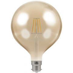 Crompton 4306 7.5W BC/B22 G125 LED Filament Antique Dimmable Lamp