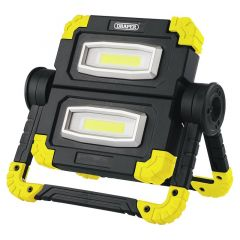 Draper 87696 10 Watt COB LED Rechargeable Twin Worklight Yellow