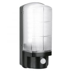 Aurora EN-BH7PIRBLK/40 UtiliteX 7W PIR Sensor IP44 LED Security Bulkhead Black