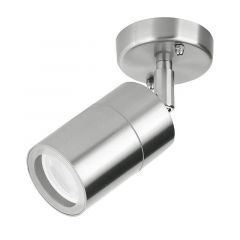 Aurora Enlite EN-WL1/SS WallE 240V GU10 IP44 Adjustable Wall Light Stainless Steel
