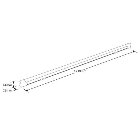 Aurora Enlite EN-BN1220/40 ECO8 20W LED Batten 1200mm Cool White