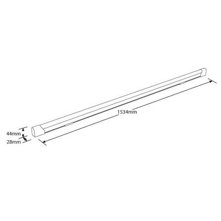 Aurora Enlite EN-BN1524/40 ECO8 24W LED Batten 1500mm Cool White