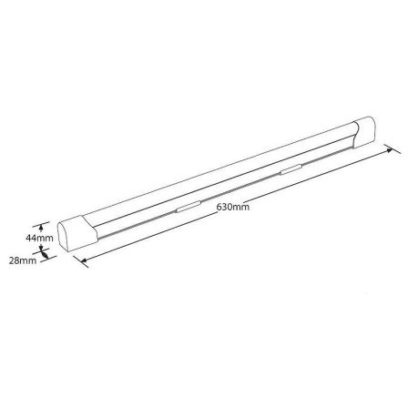 Aurora Enlite EN-BN610/40 ECO8 10W LED Batten 600mm Cool White