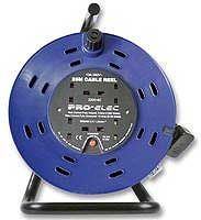 "Pro-Elec 4 Gang Extension Reel 9"" with 25 Meter Lead"