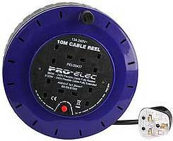 Pro-Elec 4 Gang Cassette Reel with 10 Meter Lead