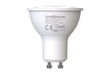 Link2Home Smart WiFi GU10 LED with RGBW & Alexa and Google Voice Control