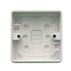 MK Logic Plus K2181WHI 1 Gang 32mm PVC Surface Box
