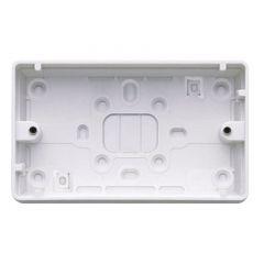 MK Logic Plus K2183WHI 2 Gang 32mm PVC Surface Box