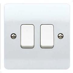 MK Logic Plus K4872WHI 2 Gang 2 Way Switch