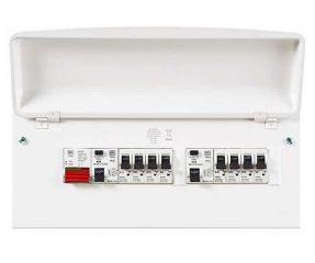 MK K8666SMET 18th Edition 10 Ways Dual RCD Consumer Unit Fully Loaded