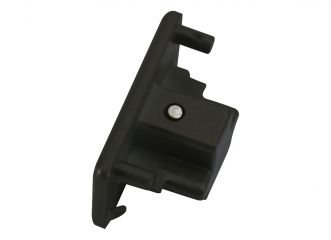 Knightsbridge TRKDEBK Single Circuit Track Dead End Cap Black
