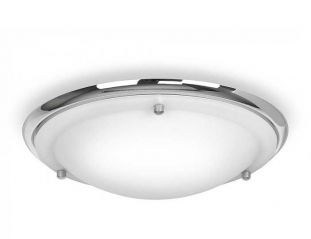 Minisun 16410 IP44 Flush Ceiling Light Chrome