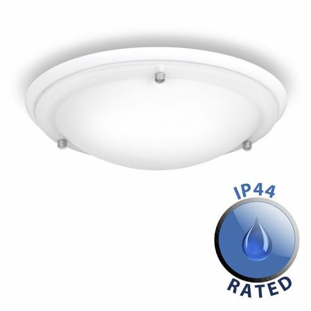 Minisun 16411 IP44 Flush Ceiling Light White