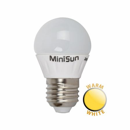 Minisun 18634 4W LED ES/E27 Frosted Golf Lamp Warm White