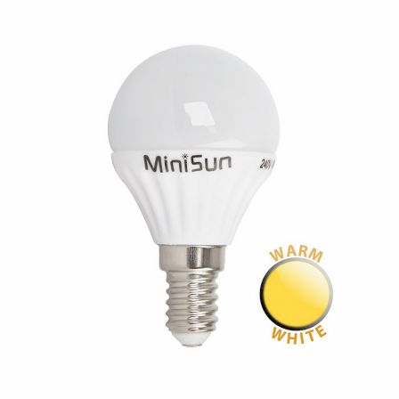 Minisun 18635 4W LED SES/E14 Frosted Golf Lamp Warm White