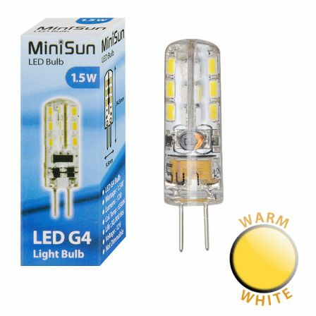 MiniSun 18663 1.5W G4 LED Capsule Warm White
