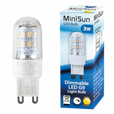 MiniSun 19833 3W G9 LED Dimmable Capsule Warm White