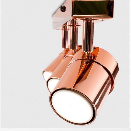 Minisun 20454 Rosie Adjustable 3 Way Bar Spotlight Copper
