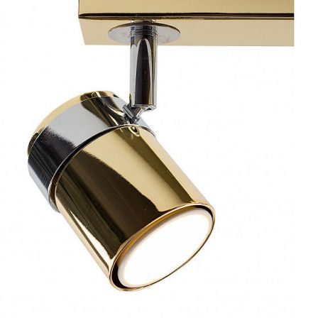 Minisun 22245 Rosie Adjustable 3 Way Bar Spotlight Gold / Chrome