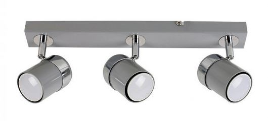 Minisun 22246 Rosie Adjustable 3 Way Bar Spotlight Grey / Chrome