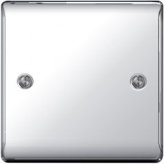 BG Nexus Metal NPC94 Polished Chrome 1 Gang Blank Plate