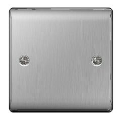 BG Nexus Metal NBS94 Brushed Steel 1 Gang Blank Plate