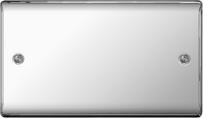 BG Nexus Metal NPC95 Polished Chrome 2 Gang Blank Plate