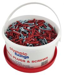Olympic Red Wall Plugs and Screws Traders Tub