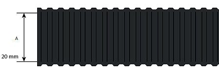 Niglon CPVC20B2 20mm Flexible Conduit Light Duty Kit c/w Connectors Black