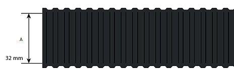 Niglon PP32B 32mm Flexible Conduit Light Duty Black