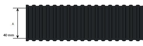Niglon PP40B 40mm Flexible Conduit Light Duty Black