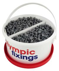 Olympic Flat Cable Clips 1.5mm & 2.5mm Traders Tub