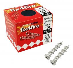 Olympic Fix4Fire Rated Screws Pan Head - Pack 100