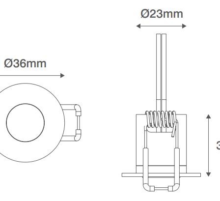 Ovia Ovo OV203DLWH LED Cast Recessed Convex Starlight IP44 12V White
