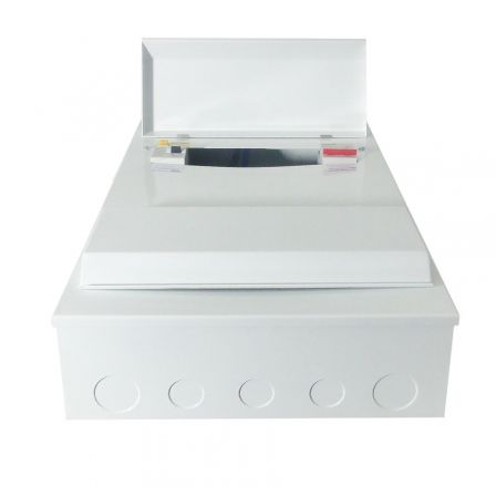Pecstar Amendment 3 17th Ed 18 Ways Metal Clad Consumer Unit Dual RCD