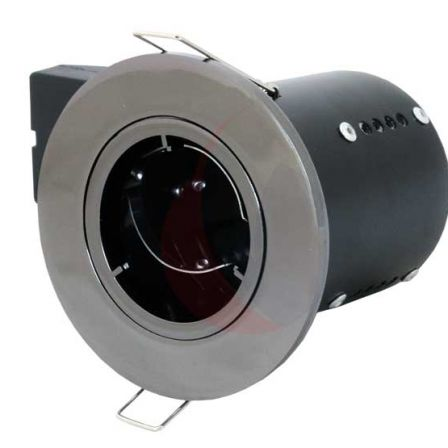 Pecstar Fire Cloak Die Cast Black Nickel Fixed Fire Rated Downlight